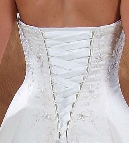 Корсет платье сзади