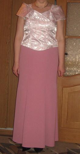 Красивый вечерний костюм - юбка-годе и блузка-корсет без косточек.