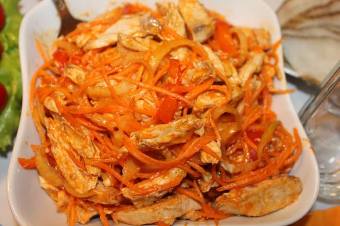 Хе с курицей и морковью рецепт с пошагово